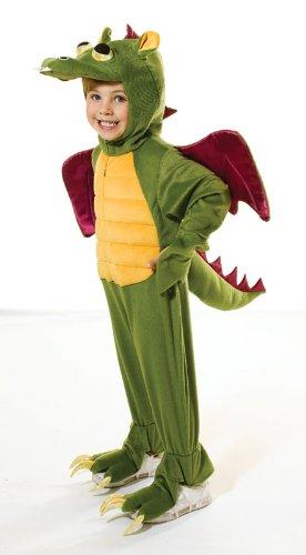 [128cm Green Children's Dragon Costume] (Dragon Girl Costume)