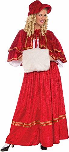 Forum Novelties Women's Christmas Caroler Costume, Red, One Size