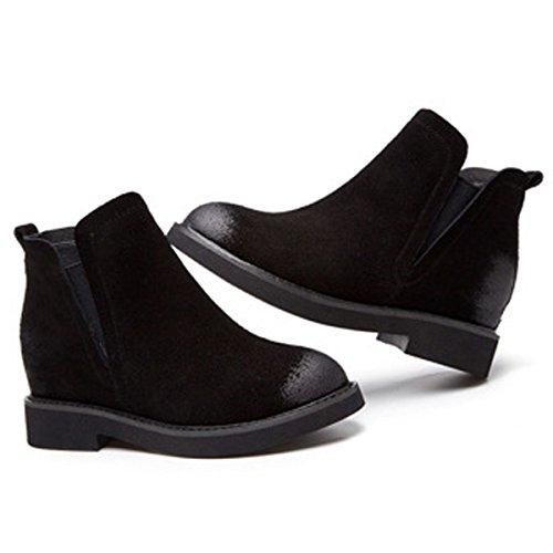 35 Der Innerhalb Herbst Winter Große Größe Brown Modische Stiefeletten Retro Schuhe Freizeit Damen 40 Zunahme Damen Neue UX6xAqgX