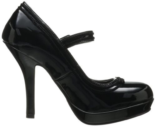 Pleaser Womens Secret-15 Pump Black Patent