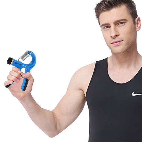 DONGJI Hand Grips Strengthener, Adjustable Resistance 22 88 Lbs, Hand Exerciser Strength Trainer Hand muscle Developer , Build Hand Finger Wrist and Forearm Strength Easily