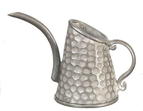 (Dollhouse Miniature Pewter Watering Can by Town Square Miniatures)