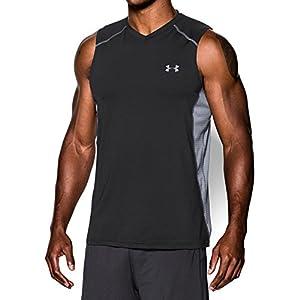 Under Armour Men's Raid Sleeveless T-Shirt, Black /Steel, X-Large
