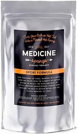 Dead Sea Salt Magnesium Rich Treatment - Experience Healing Hot Springs From Around The World - Turn Your Bath or Hot Tub Into a Soaking Mineral Spring - Sport Formula 2.5 lb Bag Treats 400 Gallons