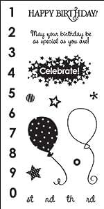 "Fiskars Clear 3""X6"" Sheet-Birthday Bash"