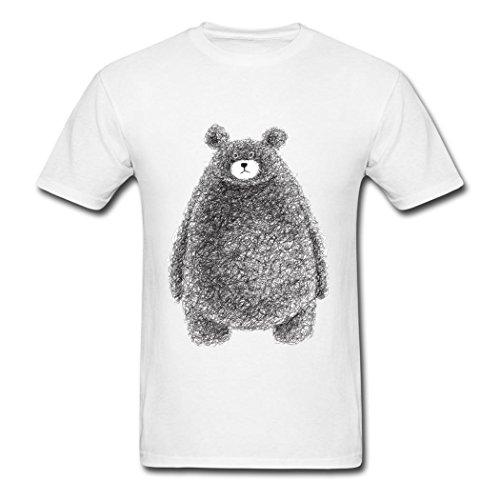 DIY Mens Bear poster T-Shirt White