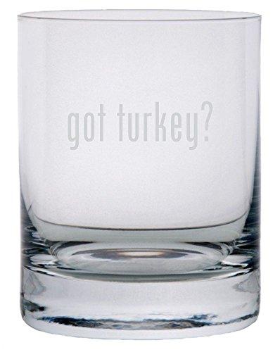 got turkey? Etched 11oz Stolzle New York Crystal Rocks Glass