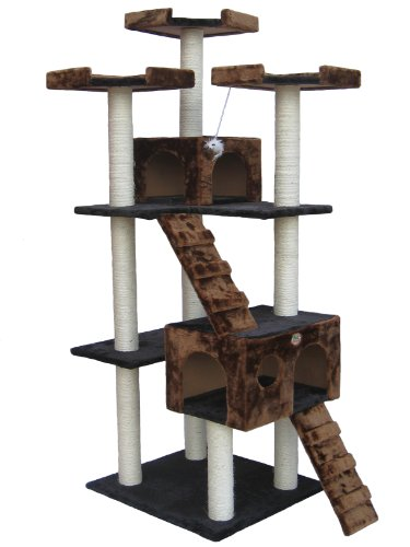 Amazon Lightning Deal 55% claimed: Go Pet Club F2082 72-Inch  Cat Tree Condo Furniture Black/Brown