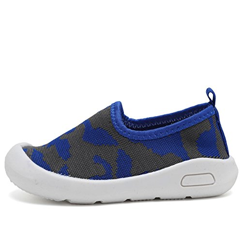CIOR Kids Slip-on Casual Mesh Sneakers Aqua Water Breathable Shoes For Running Pool Beach (Toddler / Little Kid) SC1599 Blue 19 1