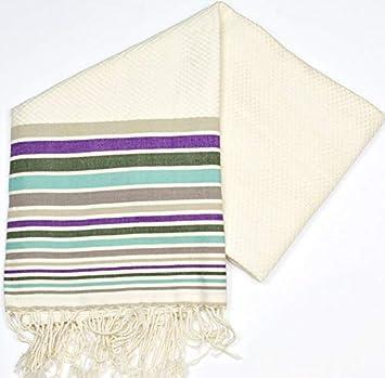 Río morado – 100% algodón – toalla de baño, 100 cm x 200 cm