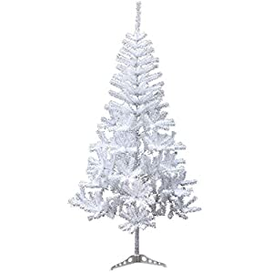 Holiday Essence 4 Foot White Artificial Christmas Tree - 300 Tips PVC Base - Unlit 1