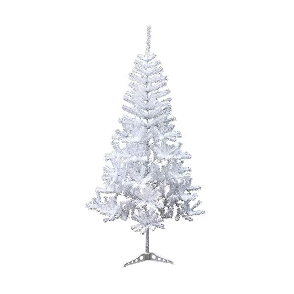 Holiday-Essence-4-Foot-White-Artificial-Christmas-Tree-300-Tips-PVC-Base-Unlit