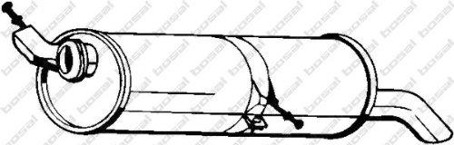 BOSAL 190-509 Silenziatore posteriore