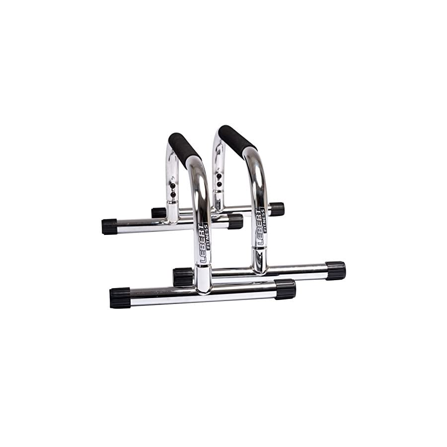 Lebert Fitness Parallettes Frank Medrano Signature Series Chrome Push Up Bars