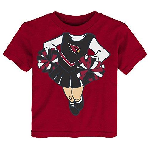 (Outerstuff NFL Arizona Cardinals Girls Short Sleeve Tee Dream Cheerleader, Cardinal, 2)