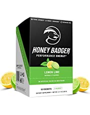 Honey Badger Vegan Keto Pre Workout | Natural Paleo Sugar Free Plant-Based Energy Supplement Nootropics Amino Acids Nitric Oxide Sucralose Free + Non-Habit Forming
