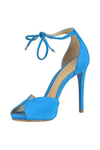 Protezione Donna Mcglcat03091e Sandali In Pelle Scamosciata Blu