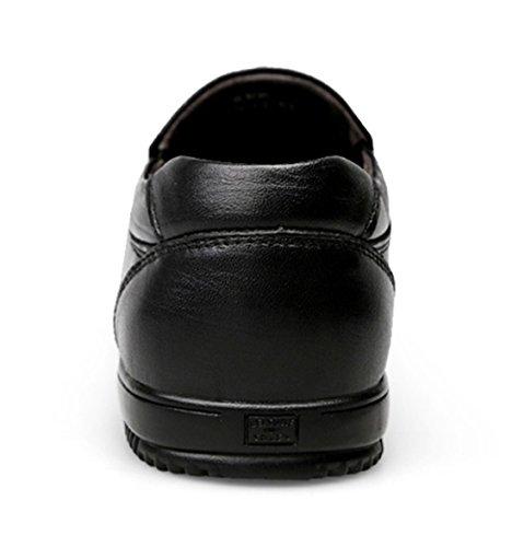 ... Tda Menns Komfort Pustende Skinn Mote Loafers Kjøring Slip-on  Forretnings Sko Svart ...