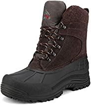 NORTIV 8 Men's Waterproof Hiking Winter Snow Boots Insulated Boo