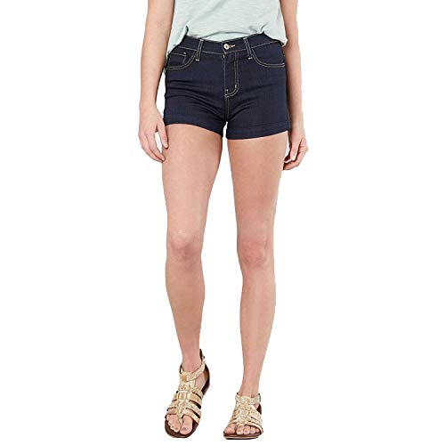 - Flying Monkey Womens Contrast Stitch Shorts Dark Blue 29