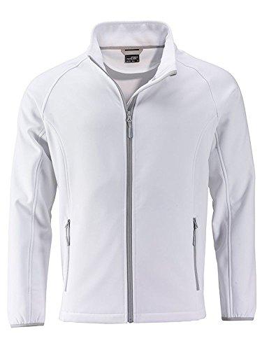 Tempo Softshell Jacket Al Promozionale Giacca Stampabile white Promo White E Adatta Libero Men's Yq1qwFdxS