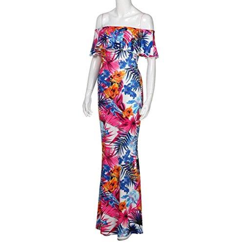 Women Beach Casual Plus Party Long For Floral Size Beach Women Maxi Summer Dress Sundress E Sundress Evening Aw4rAF0q
