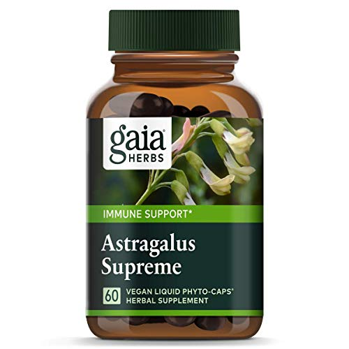 Astragalus 60 Capsules - Gaia Herbs Astragalus Supreme, Vegan Liquid Capsules, 60 Count - Deep Immune Support and Stress Resistance, with Antioxidants