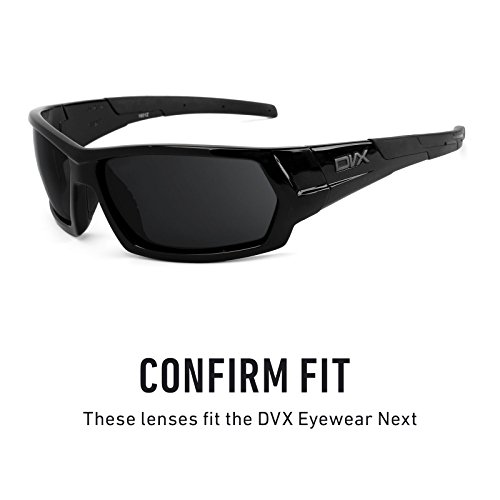 de Mirrorshield DVX para Elite Next repuesto Opciones Titanio Lentes múltiples Polarizados — Eyewear Udqw7UH