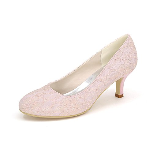 L@YC Frauen High Heels Frühling Herbst Komfortable Synthetische Hochzeit 1195-01a & Abendkleid Fine Heel Pink