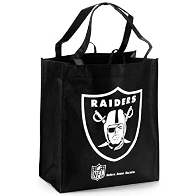 NFL Oakland Raiders Black Reusable Tote Bag
