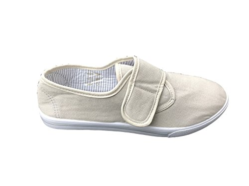 Airtech Mens Velcro Trainers Gym Trainers Fitness Lightweight Sports Plimsoles 7-12 UK Grey GYzyxBCT