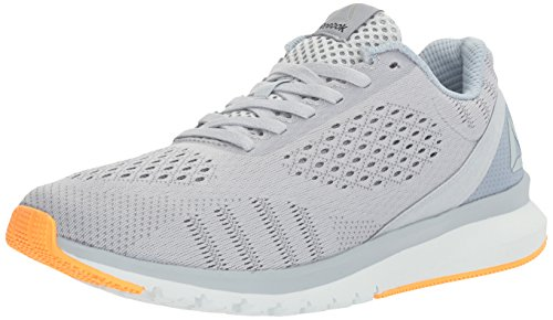Reebok Women's Print Run Smooth ULTK Shoe, Cloud Gable Grey/Asteroid Dust/Polar Blue/Black/Fire Spark, 8.5 M - Running Shoe Road Fire