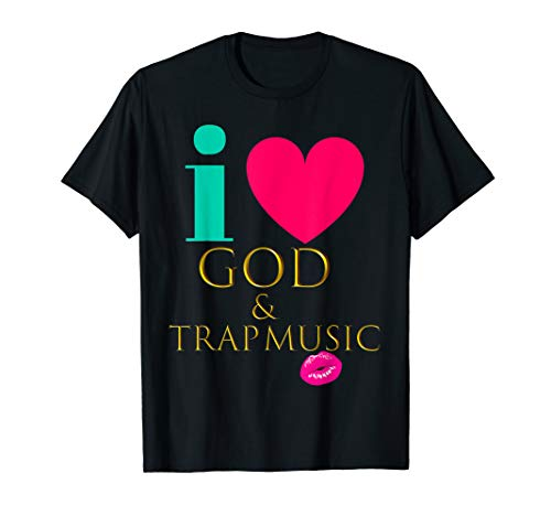 CUTE: I Love God & Trap Music Black Women Quote Shirt]()