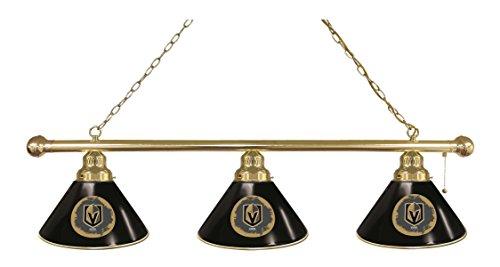 Vegas Golden Knights 3 Shade Brass Billiard Light ()