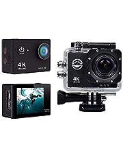 4K كاميرا تحت الماء الرياضة مع واي فاي وجميع الملحقات.