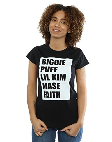 Notorious BIG Women's Biggie Puff Lil Kim T-Shirt X-Small Black
