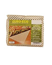 NaturalAreaRugs Euro Eco Non Slip Rug Pad, Machine Made by Artisan Rug Makers, 100% Premium Plant Oil, Anti-Static, Durable, Stain Resistant, Eco/Environment-Friendly, (8 Feet x 10 Feet) White Border