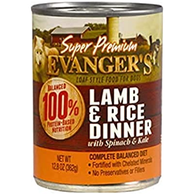 Evanger'S Super Premium Lamb And Rice Dinner For Dogs,12.8 Ounce (Pack of 12)