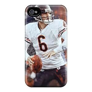Protección del rasguño rígida para iphone 4/4S (uyj18652sywy) personalizado lindo Chicago Bears piel
