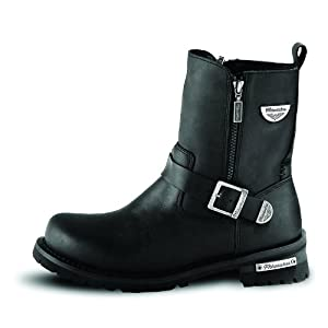 Milwaukee Motorcycle Clothing Company Afterburner Leather Women's Motorcycle Boots (Black, Size 7.5C)