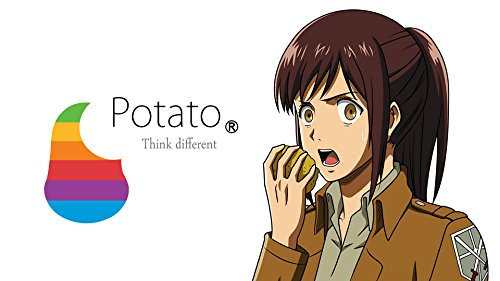 (RFG REMOVE FROM GAME Attack on Titan Potatoe Think Different Playmat 24 x 14 inch Mousepad for Yugioh Pokemon Magic the Gathering)