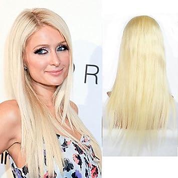 OOFAY JF® frente del cordón de primera calidad rubias pelucas de cabello humano peluca # 613 pelucas del partido rubia llena del cordón del pelo , 22 inch: ...