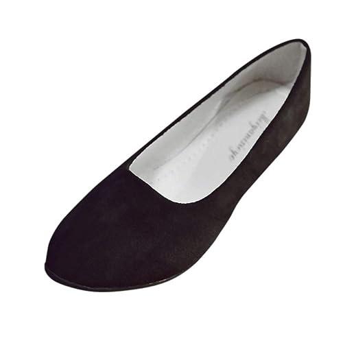 Amlaiworld Zapatos Planos Mujer Alpargatas Bailarinas Zapatillas sin Cordones para Mujer Zapatos Casuales Mocasines Zapatillas Zapatos de Cordones Calzado: ...