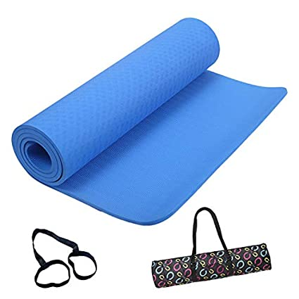 Amazon.com : Exercise Mat NBR Fitness Mat - Yoga, Pilates ...