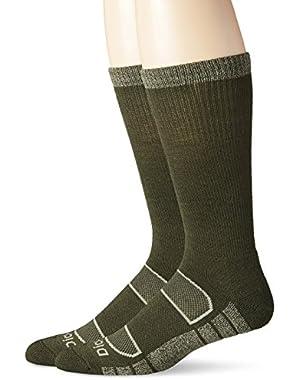 Men's 2 Pack All Season Merino Wool Light Cushion Crew Socks
