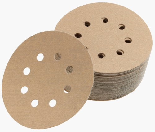 Mirka 23-615-100 5 8-Hole 100 Grit Dustless Hook & Loop Sanding Discs - by Mirka