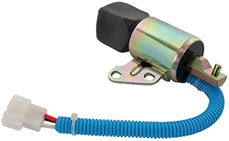 Total Power Parts New FSS0003 Shut Down Solenoid Replacement For 12V Kubota Various 17520-60013 SA-5176-12 1756ES-12SUC5B1S5