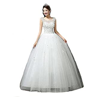 Gownlink Women's Satin Lace Floral Ball Gown 41s6uaGCdgL