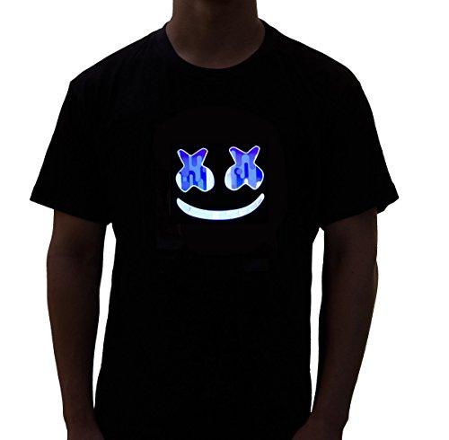 Rave Raptor Smiley LED Shirt Light up T-Shirt