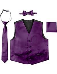 Toddler Boys' 4 Piece Formal Satin Vest Set